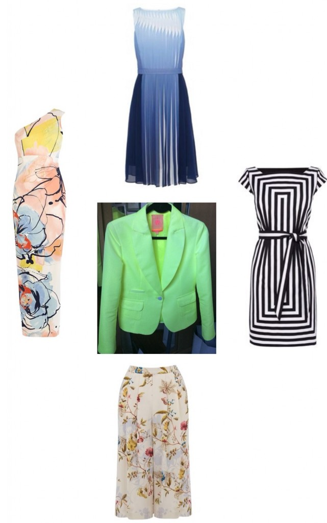 Dress up your Summer social calendar -(All Dresses, Karen Millen; V&A Print Culottes, Oasis).