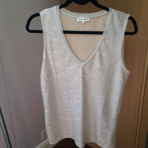 Reiss Ona Metallic vest