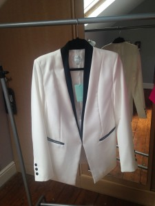 Laid back sister to the tuxedo - (available from Lulu's Boutique, Leamington Spa)