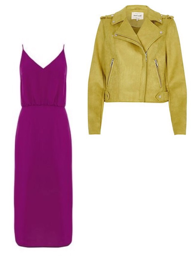 Biker Jacket, River Island Dress, Oasis